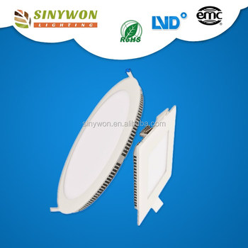 Sinywon 2016 new invention LGP panel led smd2835 super slim china round square led light panel