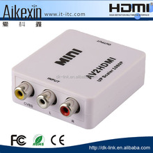China wholesale mini R/L vga rca to hdmi converter box