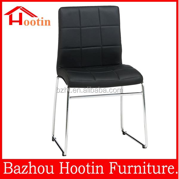 2014 new designs hot sale soft cushion chrome office dining room chair covers PVC/PU for sale
