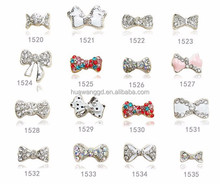 Hot sale sweet rhineston bowknot/bow tie 2015 3D nail art decoration