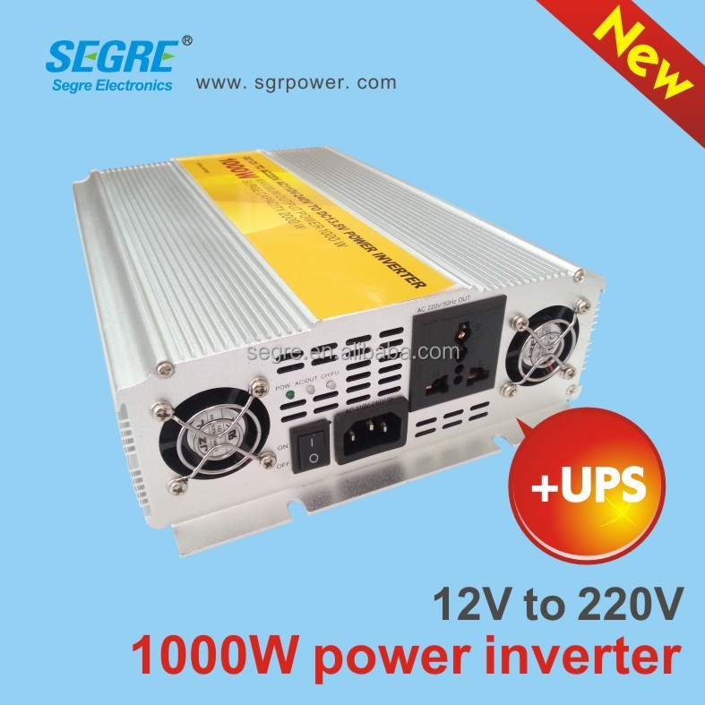1000 <strong>W</strong> 12 V to 220 V power inverter with UPS