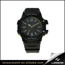 2017 custom logo black plastic case PVC waterproof men japan movt quartz wrist cheap plastic sport watch