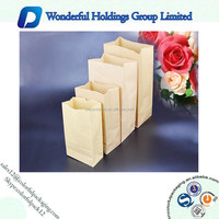 High Grade Plain Fried Chicken Food Side Gusset Kraft Paper Pouch Bag