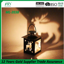 Mini christmas hanging lantern with deer or star decoration ML-2038