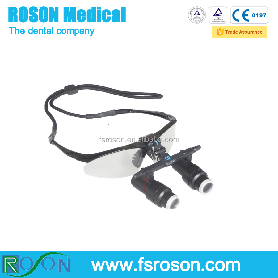 2017 New glass type dental loupes with 6.0X magnifier