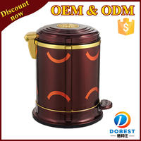 6L red trash can/decorative garbage bin/office recycling bin