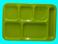 36.2*25*2.5cm rectangle divided melamine shcool lunch tray (C3004)