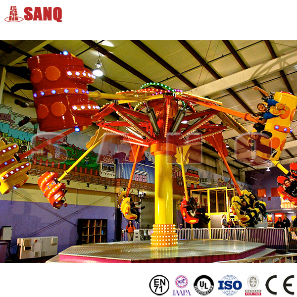 Amusement park adult playground equipment spiral jet rides air shooting rides for sale