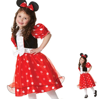 Costumes for girls advertising wear hot sale Mickey style comfortable bowknot dot hair accessories lovely girl dress EK071