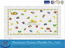 Fruit printing pvc tablecloth,printed pvc tablecover,laminated table cloth