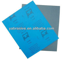wet and dry abrasive sanding paper sheet for grinding