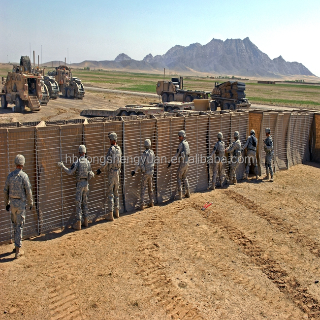 manufacture military sand wall /hesco bastion /hesco barriers for sale