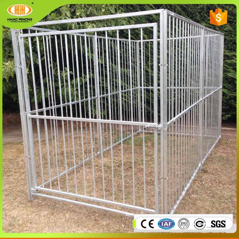 NZ market hot dip galvanized steel bar dog run kennel