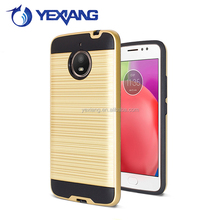 Dual layer TPU PC shockproof brushed armor case for moto e4 plus back cover
