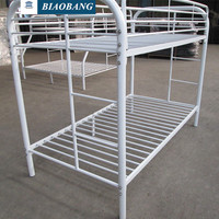white double bunk bed hot selling in American market