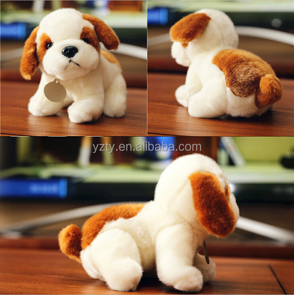 Hot Sale Custom Plush Dogs With Logo Printed Stuffed Plush Dog Toy