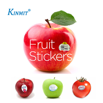 Kinmit Non-toxic Custom Shapes Direct Paste Fruit Sticker Label