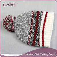 Fashion knitted women winter hat and scarf set