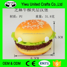 Fake hamburger series/ Simulation bread with vegetables for fridge magnet Fake