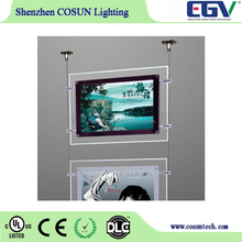 Window display A0,A1,A2,A3,A4 cinematic color matching led light cinematic light box/acrylic led photo frame