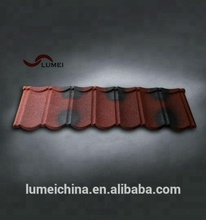 high quality 0.4mm monier villa stone chip coated metal roof tile