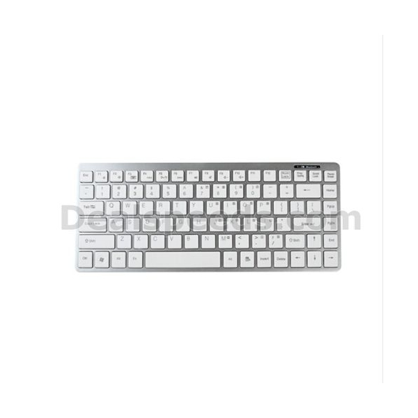 87-Key Slim Plastic Portable Bluetooth Wireless Keyboard for iPhone/Mac/Laptop