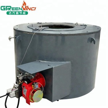Gas/oil fired scrap meltal melting furnace for aluminum ingots and die casting
