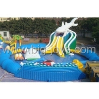 Factory price mobile giant amusement inflatable water park for aduls and kids