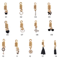 New Product Metal Golden Spring Coil with Tassel Pendant Hair Beads for Braids Accessories LQ278