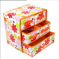 5 drawer non-woven fabric storage box, Socks/Bra/Ornament container