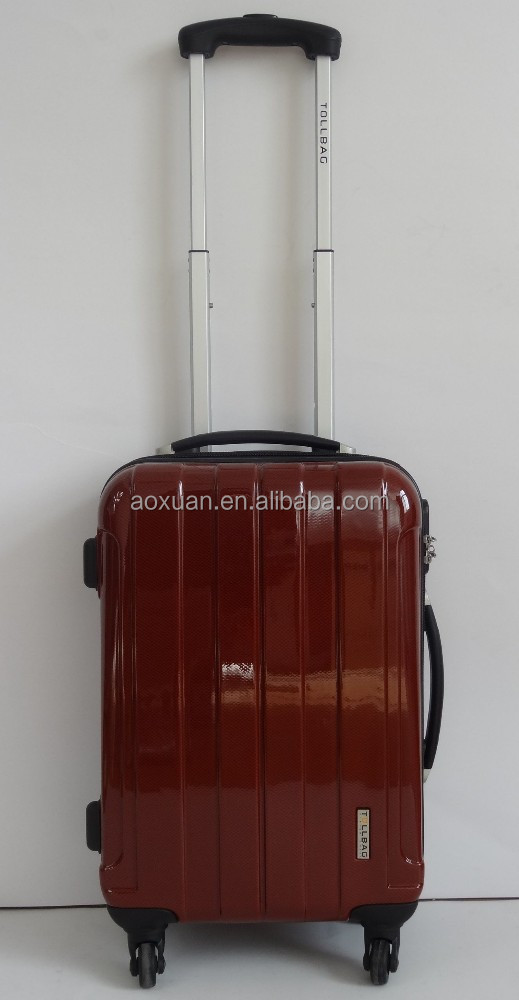 PC+ABS trolley luggage hard luggage case/beautiful pattern design PC luggage