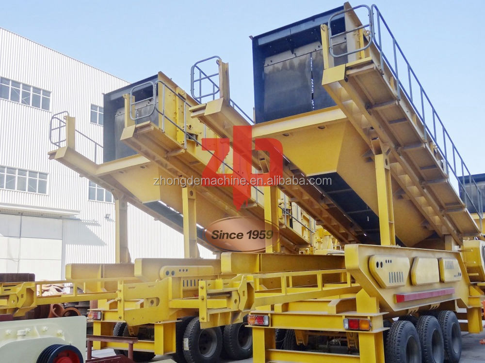 Quarry Machine Portable Stone Crusher/ Mobile Jaw Crusher Plant for gold plant /Mobile Screening Plant for Sale