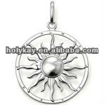 Silver Sun pendant,Special marks pendants,Famous designer new charms jewelry