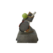 Small size silver tennis trophy,custom resin sport trophy