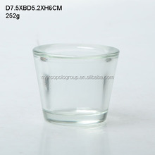 hot selling clear round glass candle holder for home decoration