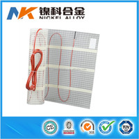 Double conductor self regulating electrical underfloor heating mat