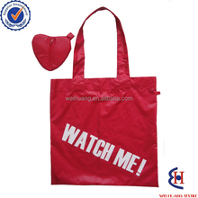 factory customize new design 190T 210D polyester foldable tote bag for promotion with print logo