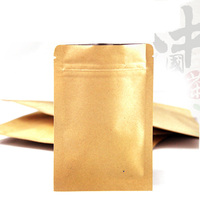 Free Shipping 200pcs/lot 10cm*15cm*140mic High Quality Kraft Paper Food Bag Pouches And Bags Plastic Bags For Sale Wholesaler