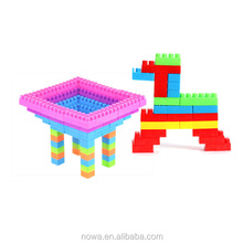 Spin Variable Building Block Big Head Plastic Block Toy