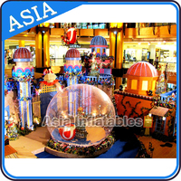 Inflatable Outdoor or Indoor Christmas Inflatable Snow Globe with Blowing Snow for Decoration