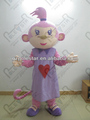 purple lover monkey mascot costumes sweet heart monkey costumes NO.4262