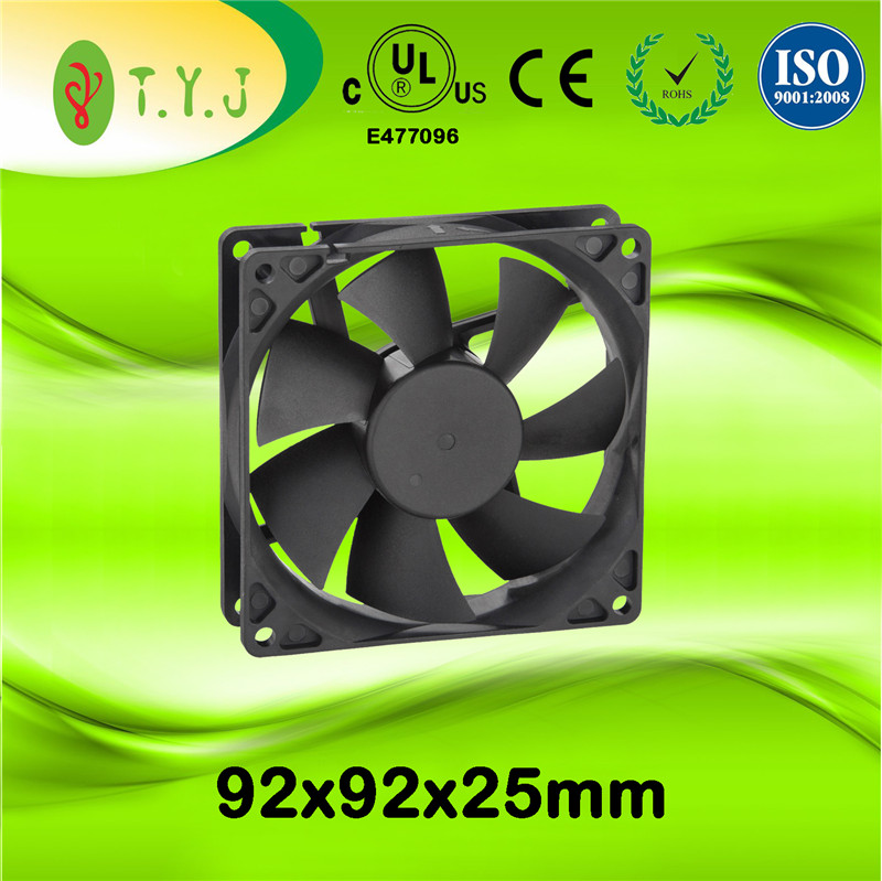 Axial Brushless Shenzhen Cooling Fan 12v 24 volt 92x92x25mm