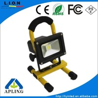 supper bright Portable 10W Battery LED Floodlight ,2014 news factory offer,emergency camping light,out door working light IP65