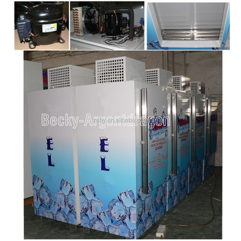 Ice making factory popular ice merchandiser fridge equipped with branded compressor