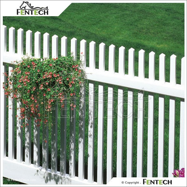 Cheap PVC Plastic Vinyl Fence Pieces For Garden