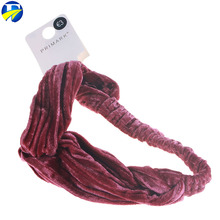 FJ brand brown hair accessories Colorful Cute hair bands elastic headbands for women