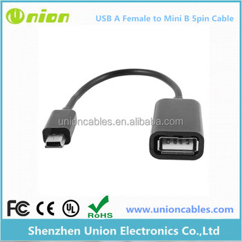 USB-Mini Male to USB A Female serial cable for connecting RFID
