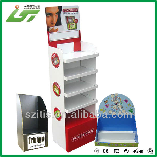 2017 OEM custom corrugated display stand paper display stand and cardboard display stand with best price