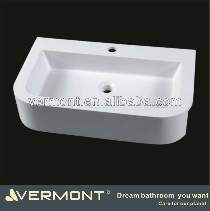 Artificial stone vanity top sink