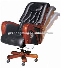 Modern leather swivel recliner chair BY-249